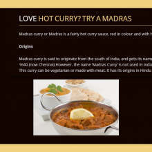 love a hot curry? Learn the Origins of the Spicy Madras